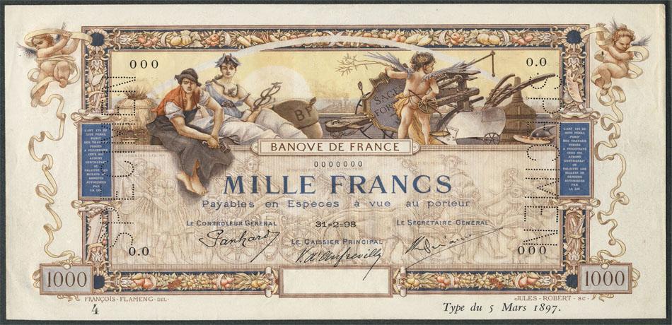 Le 1000 et 5000 Francs Flameng