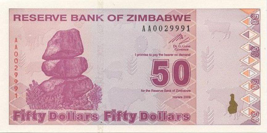 Zimbabwe, de nouveaux billets de 50 dollars seront introduits dans les prochains mois