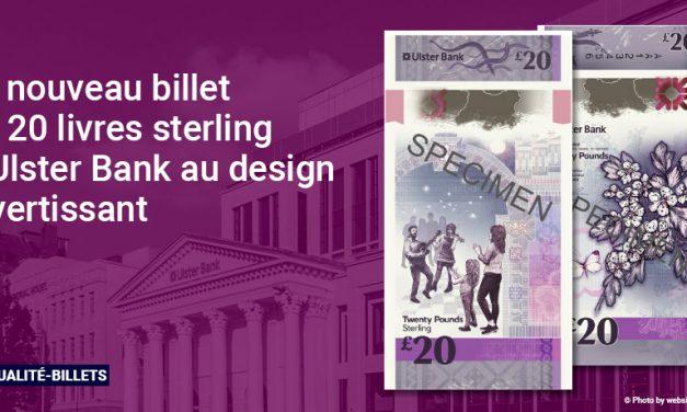 Le nouveau billet de 20 livres sterling d'Ulster Bank au design divertissant