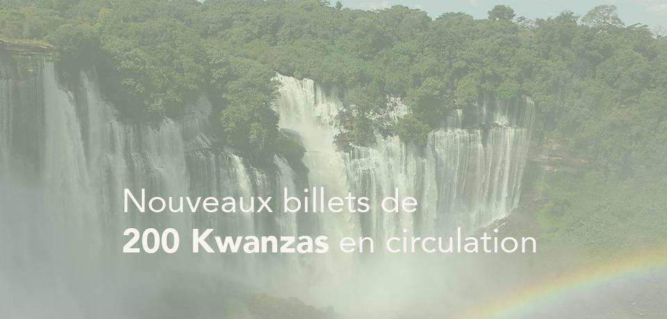 Nouveaux billets de 200 Kwanzas en circulation