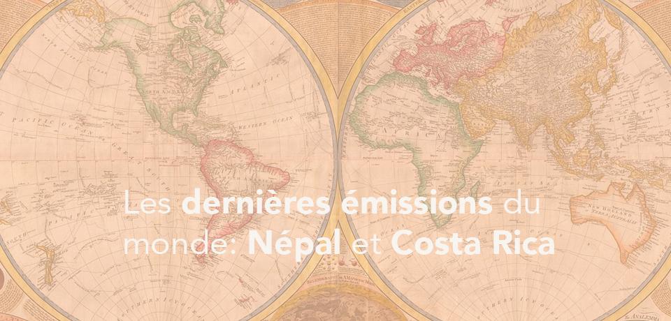 Les dernières émissions du monde: Népal et Costa Rica